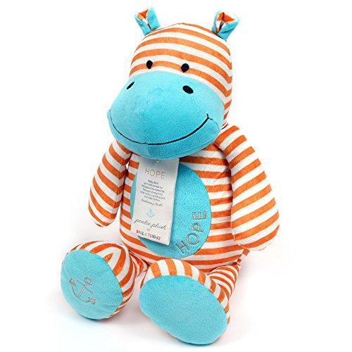 Bella Tunno Poetic Plush Animal , Hope Hippo
