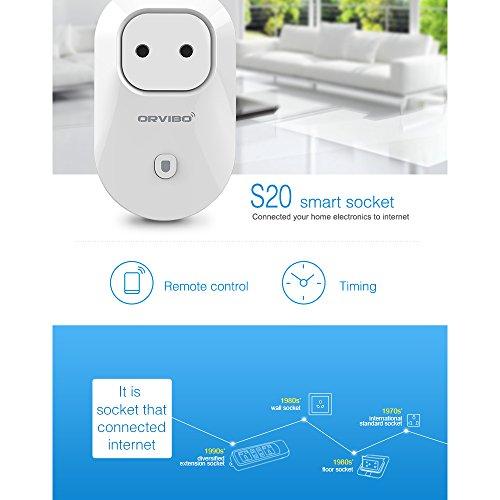 Orvibo Smart Enchufe Inteligente Wifi AC 100-240V ABS Blanco para Smartphone iPhone Andriod Smart home Hogar Negocio Control