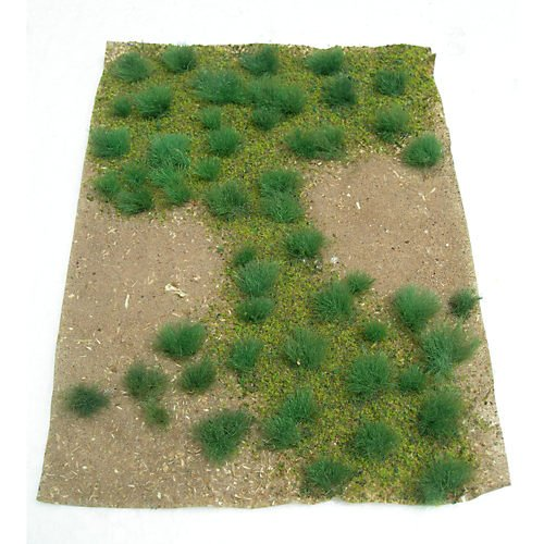 "JTT Kids Playing Set Landscaping Details Green Grassland, 5"" X 7"" Sheet"