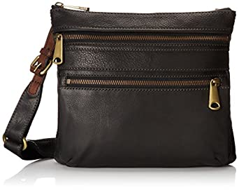 Fossil Explorer Cross Body Bag, Black, One Size