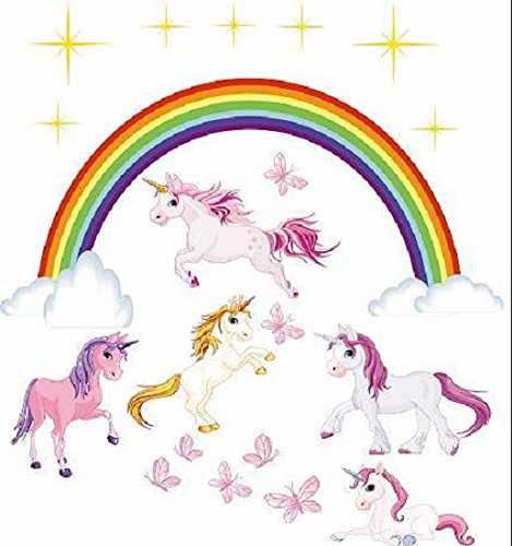 U24-Sticker-mural-Licorne-Kit-autocollant-96-x-104-cm-Sticker-mural