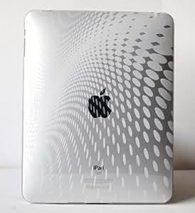 CrazyOnDigital Apple iPad Clear Wave Premium Crystal Candy TPU Silicone Skin Case/Precut LCD Screen Guard/Protector