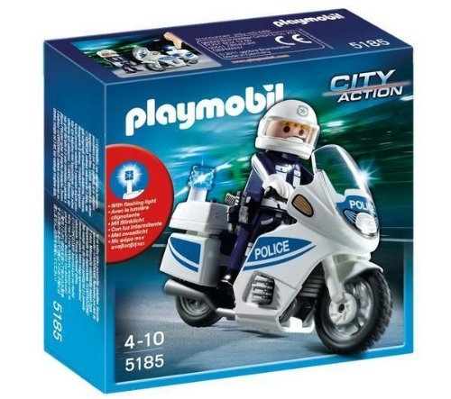 PLAYMOBIL 5180 - Polizeimotorrad