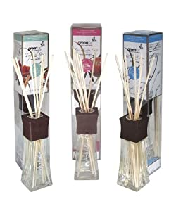 Greenair All Natural Reed Diffuser Set, Tropical Spice, Passion Fruit and Island Cotton