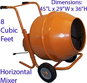 8 CU FT Wheel Barrow Portable Cement Concrete Mixer from Generic
