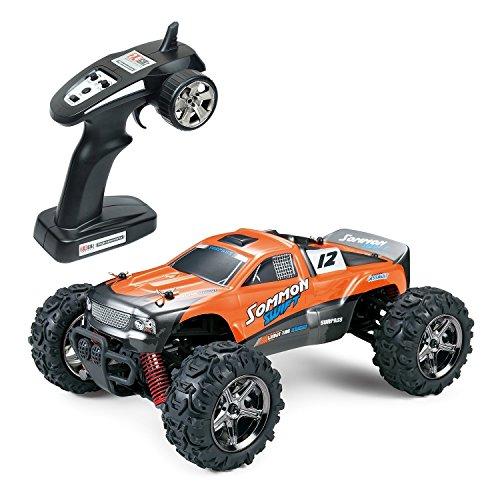 L.Y.L Schnelle Ferngesteuerte Autos mit Akku 40 Kmh, Speed Offroad Rc Buggy, 4x4 Monstertruck Ferngesteuert Outdoor, 2.4GHz 50M Fernbedienung, 1:24 Orange