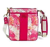 Coach Signature Floral Coral Multi Swingpack Crossbody