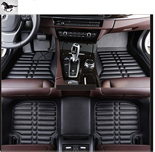 Auto mall Custom Fit Heavy Duty Full Set Floor Mats Carpet for Toyota Prado 2011-2015 7 seats(Black) (2013 Toyota Prado Accessories compare prices)