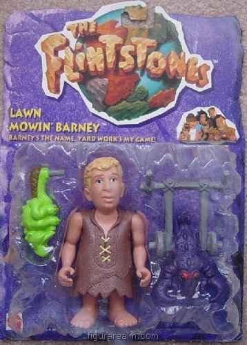 Flinstones Lawn Mowin' Barney Action Figure - 1
