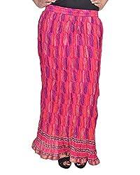 Soundarya Women's Cotton Long Skirt(RSGPS4, 38, Pink)