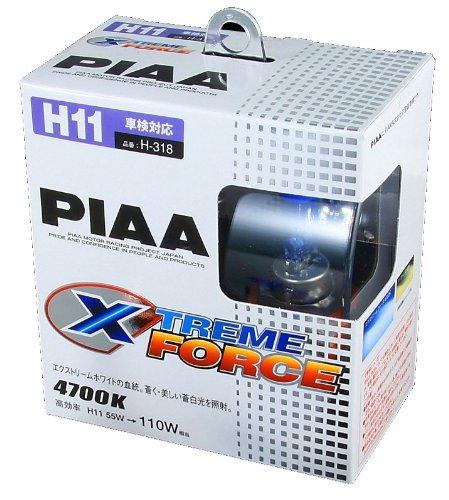 PIAA [ ピア ] ハロゲンバルブ  XTREME FORCE エクストリームフォース H11 55W  [ 品番 ] H-318