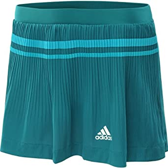 Adidas Ladies Adipure Climalite Tennis Skirt Skort Craft Emerald White by adidas
