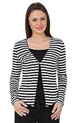 Texco women stripe blazer shrug
