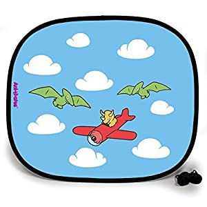 123t ANI-MATES DINO FLYING HIGH PLAIN Baby/Child Vehicle Sunshade x 1