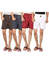 Joven Assorted Printed Cotton Boxer Pack Of 4 - B01EY0Z8XU