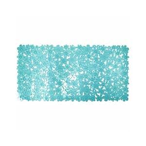 interdesign 80611eu blumz tapis de bain plastique bleu 66 x 34 cm cuisine maison. Black Bedroom Furniture Sets. Home Design Ideas