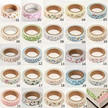 Floral Fabric Tape Washi Masking Tape Decorative Tape DIY Tape Stickers- Style16