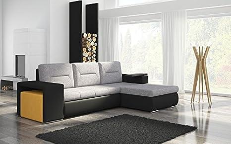 Ecksofa Octrans1 Eckcouch Sofa Couch Wohnlandschaft Bettfunktion 01284