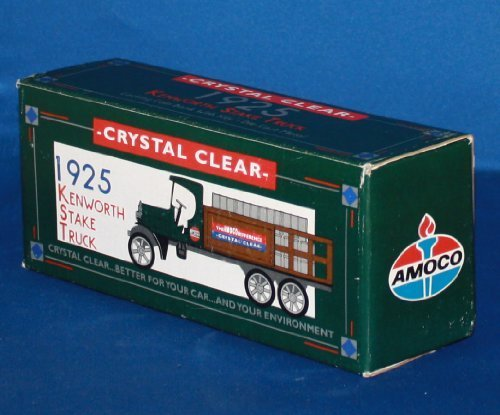 ertl-crystal-clear-1925-kenworth-stake-truck-amoco-locking-bank-with-key-diecast-metal-by-amoco