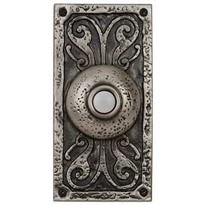 "Craftmade PB3037 Designer Surface Mount 5.25"" Tall LED Door Chime Push Button,"