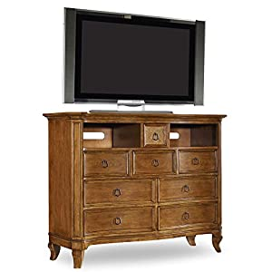 Hooker Furniture Windward 8-Drawer Media Chest in Light Brown Cherry