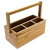 Relaxdays-Schreibtischorganizer-aus-Bambus-H-x-B-x-T-ca-20-x-25-x-115-cm-Stiftehalter-mit-4-Fchern-und-Henkel-zum-Tragen-als-Aufbewahrungsbox-und-Schreibtischbutler-Stiftebox-aus-Holz-natur