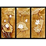 Gold Leaf Painting Set Of Three - 60w X 40h Inch - B00M9ZDLV4