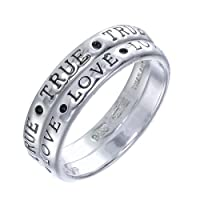 TRUE LOVE Sterling Silver Ring Set (Available In Sizes 5 - 10) from FineDiamonds9