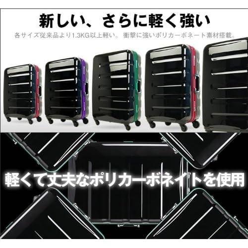 T&S legend walker レジェンドウォーカー スーツケース TSAロック搭載 ポリカーボネート100% キャリーケース 小型 SSサイズ 機内持込サイズ 6016-47 (ブラック・ブルー)