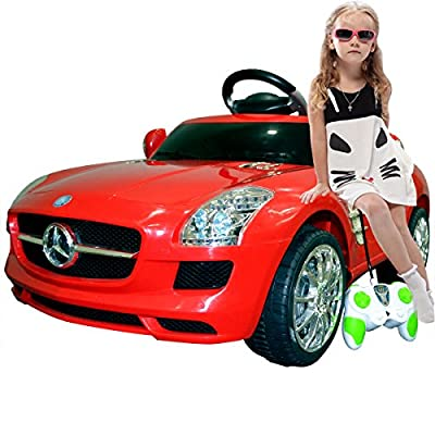 Red Mercedes Benz Sls Electric Kids Ride on Car  R/c Mp3