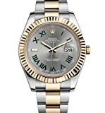 ROLEX DATEJUST II 2 STEEL & YELLOW GOLD WATCH GREY AND GREEN DIAL 116333 UNWORN