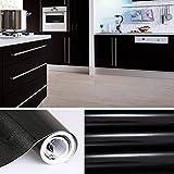 Aruhe-5x061-M-PVC-Kchenschrank-Aufkleber-Selbstklebend-Kchenfolie-Klebefolie-Schrankfolie-Deko-Tapeten-Rollen-fr-Kchenschrnke-Mbel-Schwarz