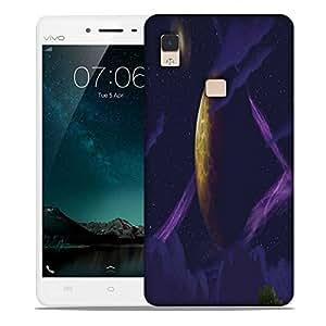 Snoogg Purple Galaxy Designer Protective Phone Back Case Cover For Vivo V3 Max