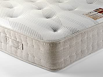 British Bed Company Cotton Pocket 1200 Chenille 3' Single Mattress