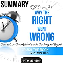E.J. Dionne Jr's Why the Right Went Wrong: Conservatism: From Goldwater to the Tea Party and Beyond Summary Audiobook by  Ant Hive Media Narrated by David Randall Hunter