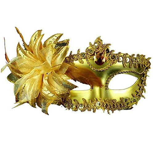 Jenabee® Lily Masquerade Mask Fancy Dress Ball Eyes Mask with Gem Crystals