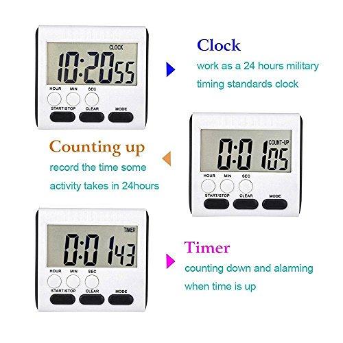 billig digital k che kochen timer kobwa 24h magnetische. Black Bedroom Furniture Sets. Home Design Ideas