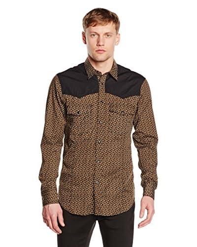 Just Cavalli Camisa Hombre Marrón