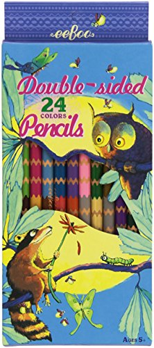 eeBoo Raccoon and Owl 12 Double Sided Pencils