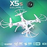 SYMA X5C アップグレード X5SC-1 無頭モード搭載 リニューアルされた200万画素カメラ空撮ドローン ヘッドレス クワッドコプター (ホワイト) [並行輸入品]