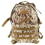 Imported 3D 40L Tactical Military Backpack School Hiking Travel Bag Desert Digital