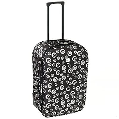 Karabar Cabin Approved Lightweight Suitcase (Swirl Black) by Karabar