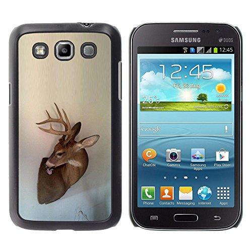Antlers Beige Natura Primavera animale - Aluminum Metal & plastica dura Phone caso - nero - Samsung Galaxy Win I8550