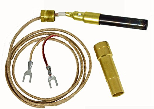 """Thermopile 36"""" Two Leads With Pg9 Adapt For Majestic Gas Fireplace 750Mv (1)"""