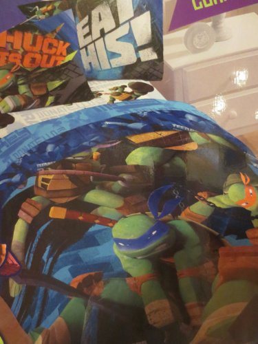 Teenage Turtles 4 Pc Soft Twin Bedding Set back-1036361