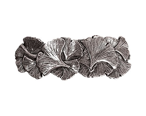 Ginkgo Hair Clip | Hand Crafted Metal Barrette Made in the USA with imported French Clips By Oberon Design ...