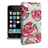 English Roses on Green Polka Dots Phone Hard Shell Case for Apple iPhone 6 Plus 5S 5C 5 4 iPod & more - Apple iPhone 3/3GS