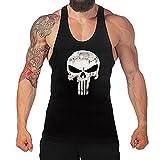West See Herr Mann Tops Tank Tankshirt Vintage Skull...