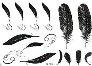 Amazon.com : Halloween Christmas Black Plume Feather Quill