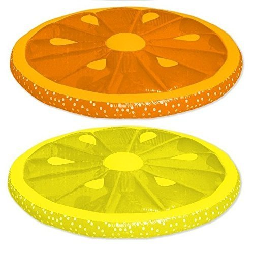 Floating Fruit Slice Pool Loungers Combo Pack: Orange and Lemon by Swimline günstig online kaufen
